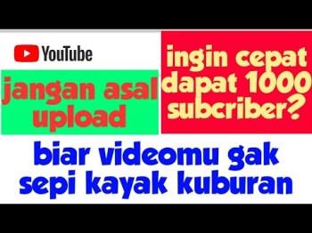 Lihat Cara Mempromosikan Channel Youtube Gratis mudah
